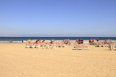 Playa del Ingles at Gran Canaria Stock Photography