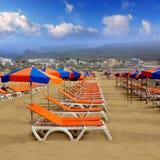 Playa del Ingles Maspalomas beach  in Gran Canaria Royalty Free Stock Photography