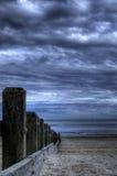 Playa del invierno Imágenes de archivo libres de regalías