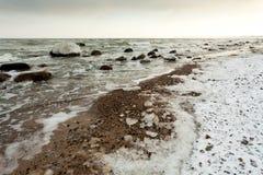 Playa del invierno Fotos de archivo