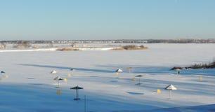 Playa del invierno Fotos de archivo libres de regalías
