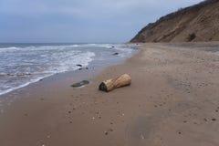 Playa del invierno Imagen de archivo libre de regalías