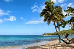 Playa del islote de Gros, Santa Lucía Foto de archivo