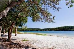Playa del lago - lago smiths fotografía de archivo