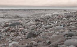 Playa del lago Michigan Imagenes de archivo