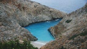 Playa del limania de Seitan Fotografía de archivo libre de regalías