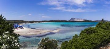 Playa del Lu Impostu imagen de archivo