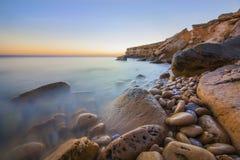 Playa del luz de DA del Praia Foto de archivo