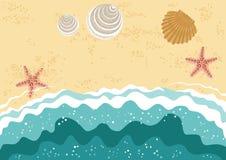 Playa del mar stock de ilustración