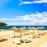 Playa del mar adriático en Croacia Fotos de archivo libres de regalías