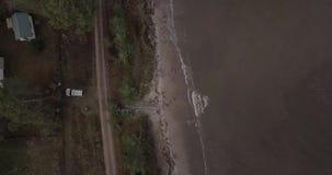 Playa del mar Báltico almacen de video