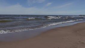 Playa del mar Báltico en un día de verano soleado metrajes