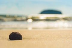 Playa del mar con el fondo de la isla Fotos de archivo libres de regalías