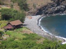 Playa del mar de la choza de la casa Fotografía de archivo libre de regalías