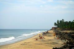 Playa del mar de Varkala, en Kerala, la India fotografía de archivo libre de regalías