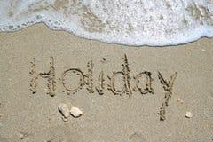 Playa del mar del día de fiesta Fotografía de archivo