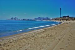 Playa del Marinicas de Carboneras Almeria Andalusia Spain fotografía de archivo libre de regalías
