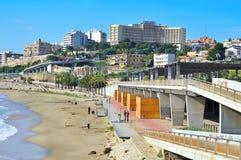 Playa del milagro en Tarragona, España Imagen de archivo