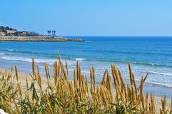Playa del milagro en Tarragona, España Fotografía de archivo