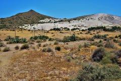 Playa del Monsul de Nijar Almeria Andalusia Spain fotografía de archivo libre de regalías