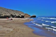 Playa del Monsul de Nijar Almeria Andalusia Spain fotos de archivo