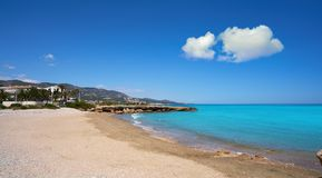 Playa del Moro strand Alcossebre of Alcoceber stock afbeeldingen