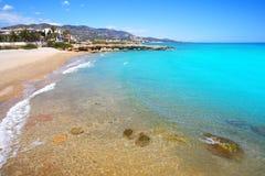 Playa del Moro strand Alcossebre of Alcoceber royalty-vrije stock foto