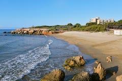 Playa del Moro strand in Alcossebre, Spanje stock foto