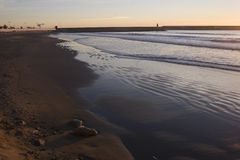 Playa Del Morrongo Benicarlo Stockfoto