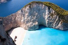 Playa del naufragio Foto de archivo libre de regalías