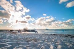 Playa del Norte海滩在Isla Mujeres,墨西哥 免版税库存图片