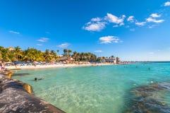 Playa del Norte beach in Isla Mujeres, Mexico Royalty Free Stock Image