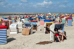 Playa del norte de Borkum, Alemania Imágenes de archivo libres de regalías