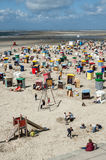 Playa del norte de Borkum, Alemania Fotografía de archivo