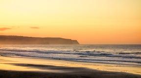 Playa del norte de oro Fotografía de archivo libre de regalías