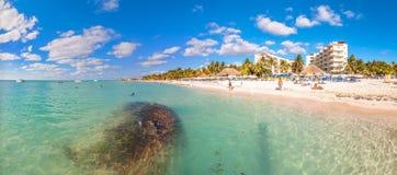 Playa del Norte strand i Isla Mujeres, Mexico Royaltyfri Foto