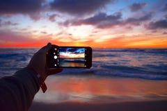Playa del océano, California Imagen de archivo libre de regalías