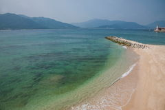 Playa del oro de Lingshui de la isla del límite Imagen de archivo libre de regalías