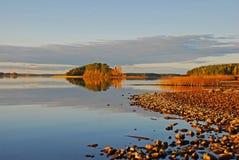 Playa del otoño Foto de archivo libre de regalías
