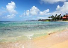 Playa del público de Poipu Foto de archivo libre de regalías