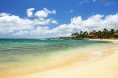 Playa del público de Poipu Imagen de archivo libre de regalías