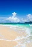 Playa del paisaje de la isla Foto de archivo libre de regalías