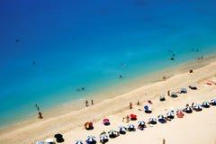 Playa del paraíso de Lefkada Fotografía de archivo libre de regalías