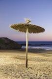 Playa del paraguas Imágenes de archivo libres de regalías