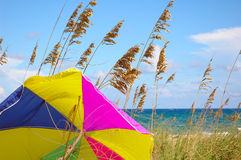 Playa del paraguas Fotos de archivo