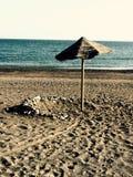 Playa del paraguas Imagenes de archivo