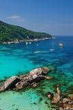 Playa del paraíso de las islas de Similan Imagen de archivo