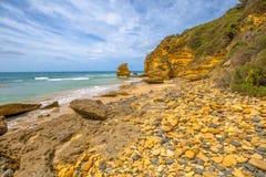 Playa del paso, entrada Victoria de Aireys Fotos de archivo libres de regalías