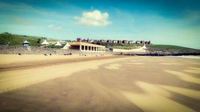 Playa del placer de la isla de Barry foto de archivo