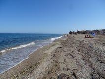 Playa del Pozo de Esparto de Cuevas del Almanzora Almeria Andalusia Spain foto de archivo libre de regalías